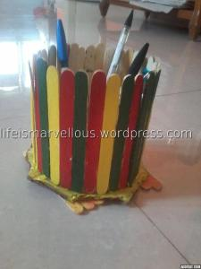 Ice-cream sticks stand